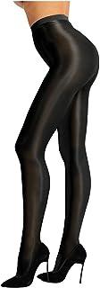 Freebily Damen Strumpfhosen Glänzend Strümpfe Leggings Seidenstrumpfhose Figurformende Feinstrumpfhose Seidenfein Jeggings