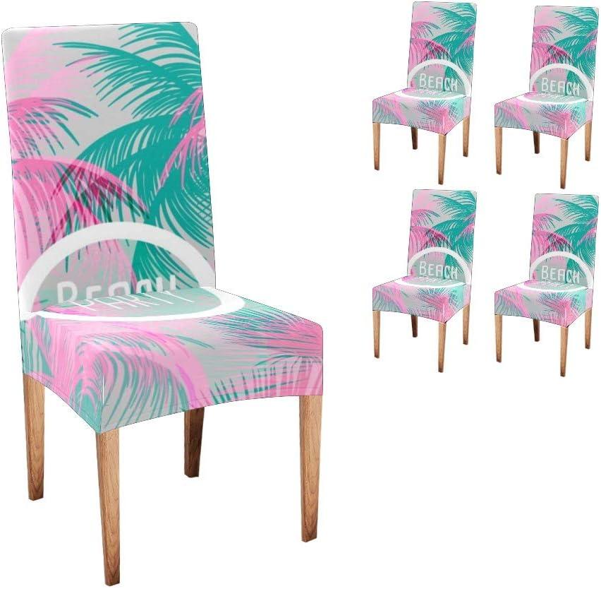 商舗 爆買い送料無料 CUXWEOT Chair Covers Protector Watercolor Tree Palm Comfort Soft