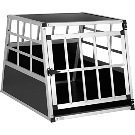 Cadoca Hundetransportbox M Robust Verschließbar Aus Aluminium Autotransportbox Tiertransportbox 70x54x51cm Haustier
