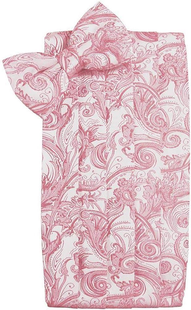 Coral Paisley Cummerbund and Tie Direct sale of Surprise price manufacturer Bow Set