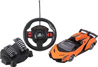لعبة سيارة سباق بريموت كنترول من اكس اف - اسود وبرتقالي