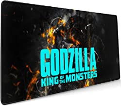 Godzilla Monster Dark Extended Gaming Mouse Mat, DIY Custom Professional Mouse Pad (35.5x15.8In),Desk Pad Keyboard Pad Mat, Water-Resistant, Non-Slip Base, For Work & Gaming, Office & Home