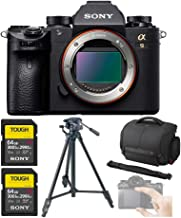 Sony Alpha a9 Full Frame Mirrorless Camera Body Bundle with Camera Case, Tripod, 2X Sony 64GB SF-G64/T1 (300MB/s) UHS-II C...