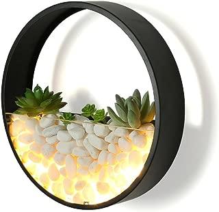 Lámpara De Pared Lámpara de pared de hierro labrado Ronda caliente llevado 8W luz creativa imitación muro de piedra Luz moderna simple de la sala de estar dormitorio de la lámpara Diámetro 25cm.