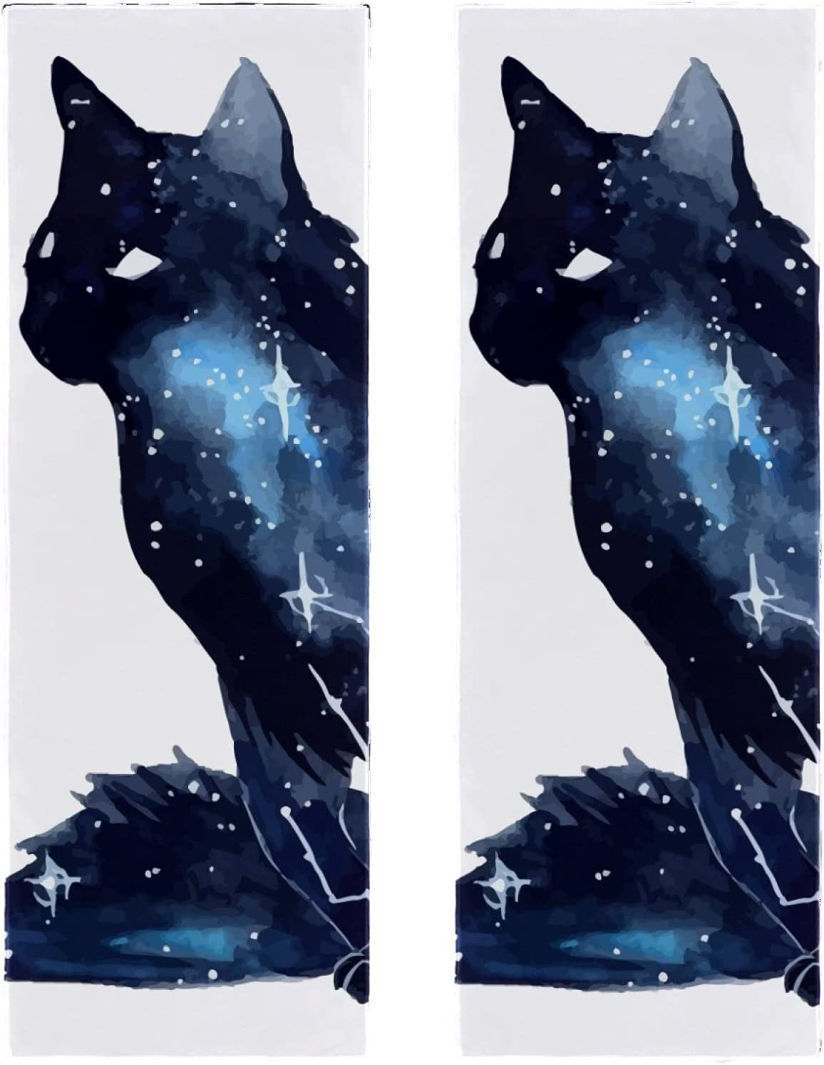 Fast Drying Microfiber Towels 2 Sports Cat Packs Starry Ranking TOP6 Printing OFFicial