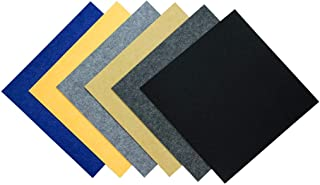 FOUCARSI 12 Pack Acoustic Panels, 12 X 12 X 0.4 Inches Sound Proofing Studio Foam Padding High Density Bevled Edge Tiles Soundproofing Panels Black