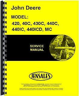 JD-MCREPRO New Crawler Service Manual Made To Fit John Deere 40 420 430 4401