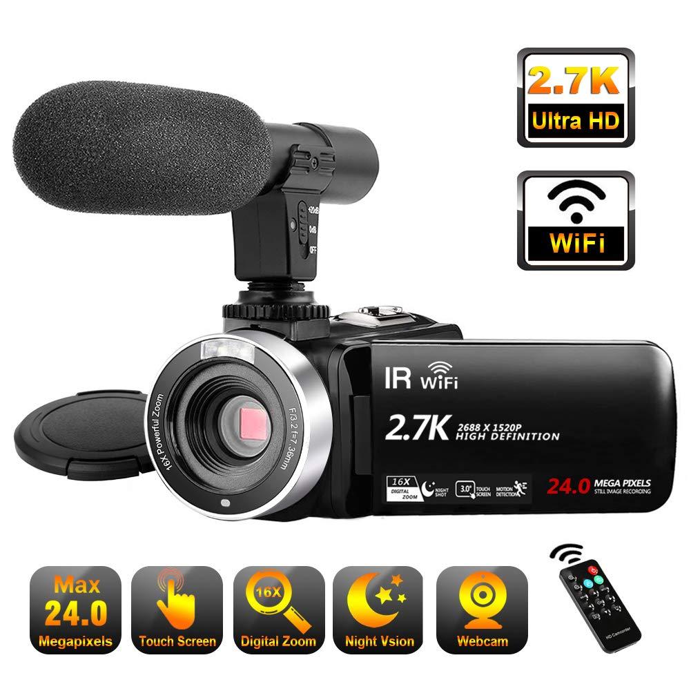 Camcorder Microphone Vlogging Digital Recorder