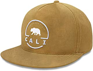 California Republic Snapback Hat Cali Bear The Golden State Faux Suede Cap