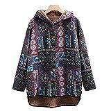 Pianshanzi Cappotto in pile da donna per autunno e inverno, foderato, giacca invernale spessa, Multicolore2, S