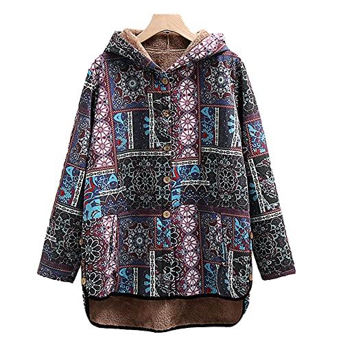 Pianshanzi Veste en peluche pour femme - Automne - Noir - Hiver - Veste polaire - Manteau d'automne - Veste d'hiver, Multicolore 2, XXL