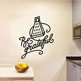 wZUN Sea Agradecido Texto rallador Etiqueta de la Pared hogar Cocina y Comedor decoración Etiqueta 85X105cm