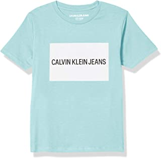 Calvin Klein Big Boys' Institution Logo Crew Neck tee Shirt