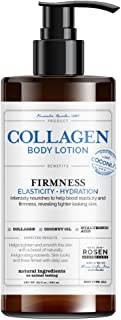 Rosen Apothecary Firming Collagen Body Lotion with Natural Coconut Oil for Firmness, Elasticity, Hydration, Revealing Tigh...