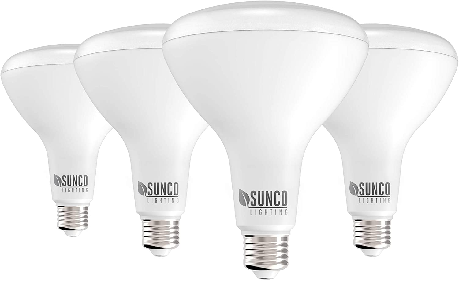Sunco Limited time cheap sale Lighting 4 Pack Japan Maker New BR40 LED W Bulb 17W=100W 3000K Dimmable
