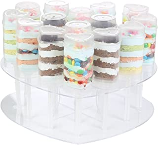 2 Tiers Heart Shape Clear Acrylic Cake Stands Push Pops Cake Stands 15 Holes