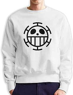 Trafalgar D Water Law Men's Sweatshirt Long Sleeve Round Neck Fashion Casual Sweatshirt XXL White