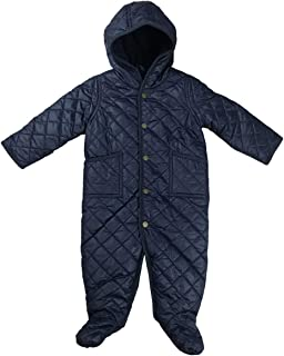 Polo Baby Quilted One Piece Snowsuit (3 Months, Blue)