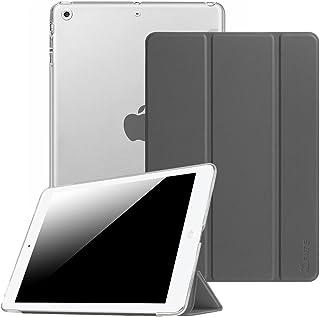 Fintie iPad Air2 / iPad Air ケース クリア バックカバー 軽量 薄型 タンドタイプ PUレザーフロントケース 傷つけ防止 オートスリープ機能付 Apple iPad Air 2013 / iPad Air2 2014...