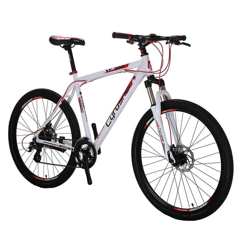 cyrusher directa XF300 MTB Mans Northwest Guitars – Bicicleta de montaña para hombre 24 velocidades de horquilla delantera Suspensión Mecánica doble frenos de disco, blanco y rojo: Amazon.es: Deportes y aire libre