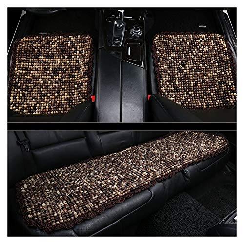 XWL Seggiolini Auto Cuscino del Sedile Auto Cuscino Traspirante Materiale in Legno Buona traspirabilità e Comfort Diversi Stili Disponibili Rispetto dell'ambiente e inodore (Color : Brown)