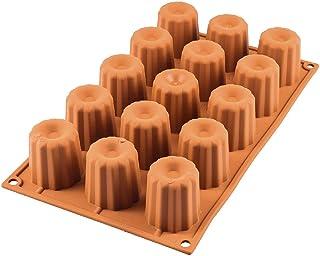 Silikomart Bordelaise Bordelais Cake Mould, 45mm, Terracotta