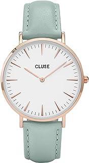 1ceca548b71 Cluse Women s La Boheme 38mm Mint Leather Band Metal Case Quartz Watch  CL18021
