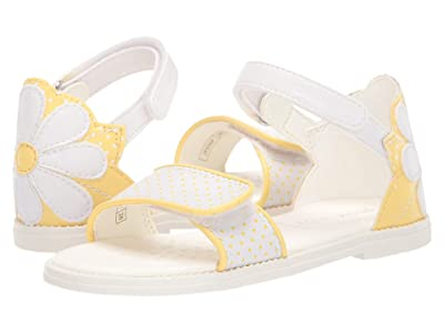Geox Kids Sandal Karly Girl 30 (Little Kid) (White/Yellow) Girl