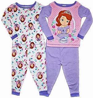 Sofia the First Toddler Girls 4 Pc Cotton Sleepwear Set