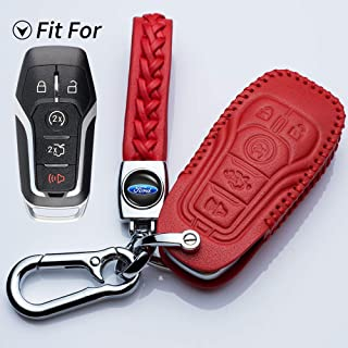 Rpkey Metal Keyless Entry Remote Control Key Fob Cover Case protector For 2015 2016 2017 Ford F-Series Explorer Fusion F-150 F250 F350 F450 F550 Super Duty 164-R8130 164-R7986 164-R8134 N5F-A08TAA ASD