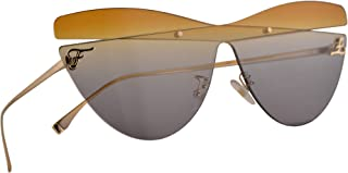 Fendi FF 0400/S Sunglasses Gold w/Grey Honey Gradient Lens 99mm XYO9O FF0400S 0400S FF0400/S