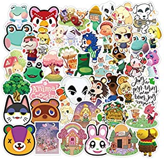 Popular Game Sticker, Animal Crossing Stickers Water Bottles Big 50-Pack Cute, Waterproof, Aesthetic, Trendy Stickers for Teens, Girls Perfect for Water Bottle, Laptop, Phone, Travel