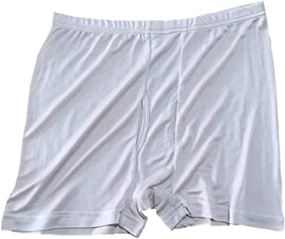 Hao Run Men Pure Silk Boxer Knit Brief Underpants Trunks Shorts Underwear