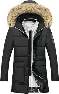 Men Winter Puffer Coat Fashion Fur Hooded Warm Outwear Jacket