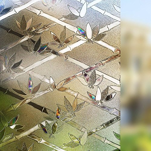 LMKJ Etiqueta engomada de la Ventana de la preservación estática bambú 3D PVC Opaco hogar Privado película de Vidrio Decorativa Etiqueta engomada A60 60x100cm
