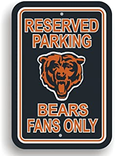 NFL Chicago Bears Plastic Parking Sign