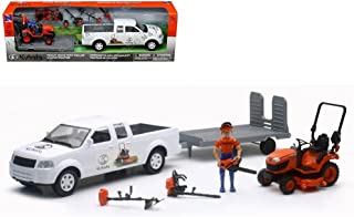 New Ray New 1:20 NEWRAY KUBOTA Collection - KUBOTA Pickup Truck with Trailer & Lawn Tractor Model Toys