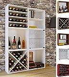 VCM Wein-Regalserie Regal Weinregal Weinschrank Weinflaschen Schrank Holz Würfel Flaschen Aufbewahrung Weino Weino LLL: Weiß