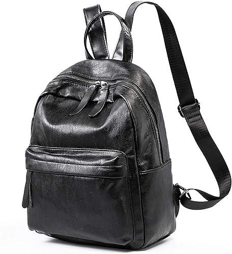 XIN G sac à dos - Wohommes European and American mode PU Soft cuir sac à dos, College Leisure voyage sac, grand-capacité Affaires sac