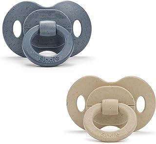 Elodie Details 2-pack Napp i Bambu med Ortodontisk Sugdel i BPA-fri Silikon, lämplig från 3 Månader upp - Tender Blue/Pure...