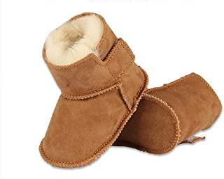 Genuine Sheepskin Baby Snow Boots Warm Winter First Walker Toddler Shoes for Boys and Girls