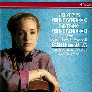 Saint-Saëns: Violin Concerto No. 3 / Vieuxtemps: Violin Concerto No. 5 / Ysaÿe: Solo Violin Sonata No. 5