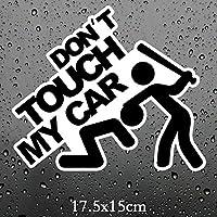車用ステッカー・デカール 17.5x15cm Doが私の車面白い車のステッカー車のステッカー車のステッカーを触れません BJRHFN (Color : Black)