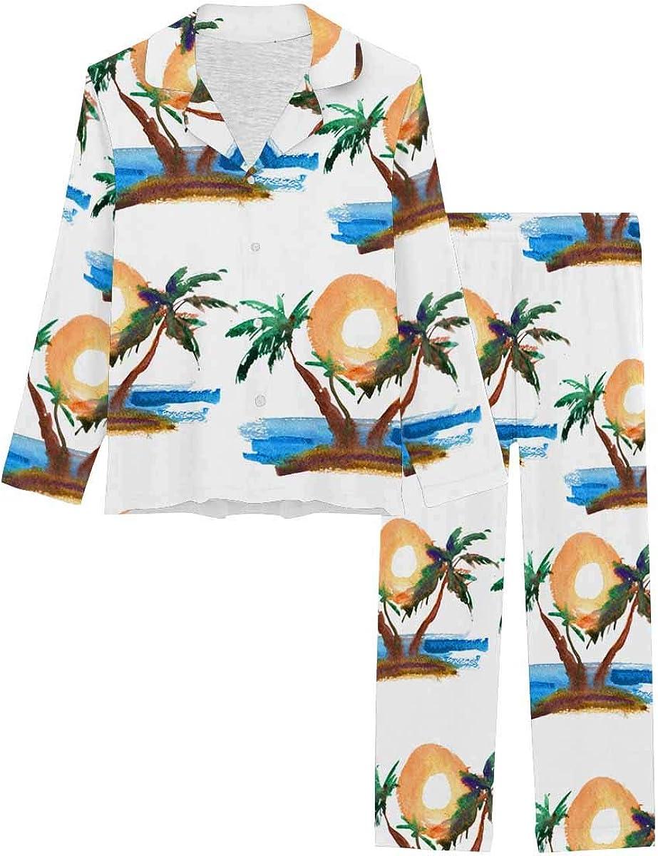 InterestPrint Store Notch Year-end gift Collar Loungewear f Sleepwear Soft Nightwear
