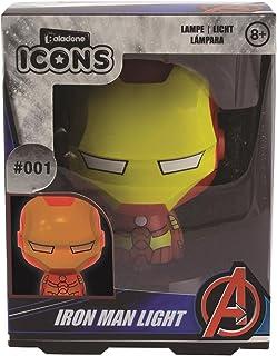 Paladone Luces de icono de Iron Man para coleccionar, ideal para dormitorios de niños, oficina y hogar | Pop Culture Gamin...