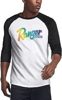 Men's Ranger Boats Rainbow Les Gay Bass Tracker Boats Casual 3/4 Sleeve Baseball T Shirts Plain Raglan Jersey Tee Shirt