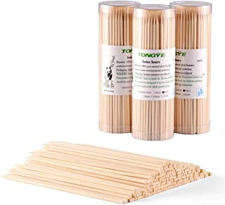 Natural Bamboo Skewers 6 Inch - No Splits/Debris, Premium Wooden Sticks for Chocolate Fountain, Fruits Kabob, Appetizer, Cocktail, Barbecue Skewer of Party and Grilling. 600 PCS (3 packs of 200)