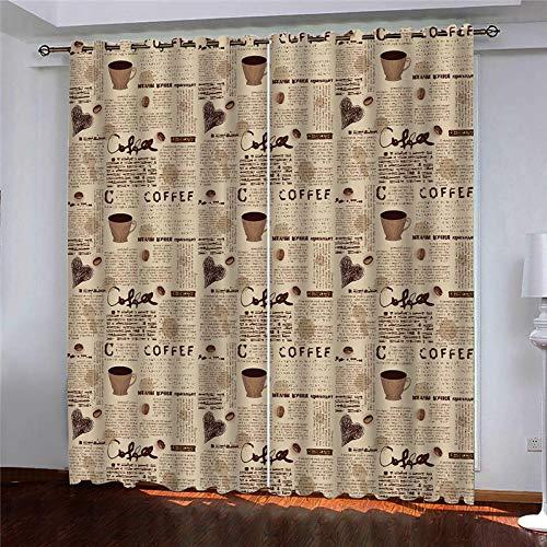 YNKNIT Blickdichter Vorhang mit Ösen Kaffee 2er Set Gardinen Vorhänge Blickdicht,verdunkelungsvorhang,thermovorhang für Wohnzimmer, Schlafzimmer und Räume 167x229cm