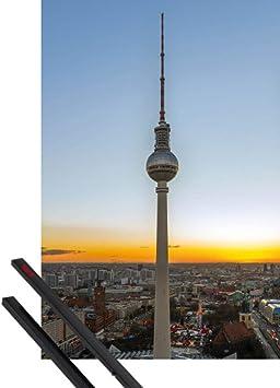 1art1 Berlín Póster con Marco (Madera DM) - Torre De La ...