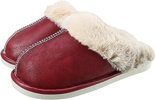 CELANDA Pantofole da Inverno Donna Uomo Caldo Peluche Ciabatte Comode Antiscivolo Scarpe da Casa in Memory Foam